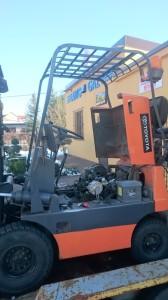 Wózek widłowy montaż instalacji gazowej